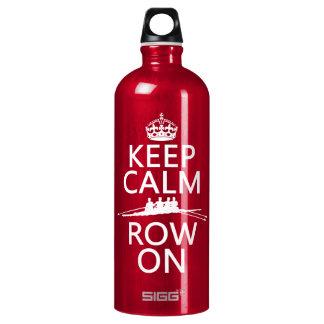 Behalten Sie Ruhe und Reihe auf (wählen Sie jede Aluminiumwasserflasche