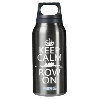 Behalten Sie Ruhe und Reihe auf (wählen Sie jede Isolierte Flasche