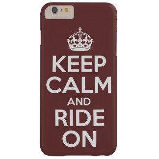 Behalten Sie Ruhe und reiten Sie an Barely There iPhone 6 Plus Hülle