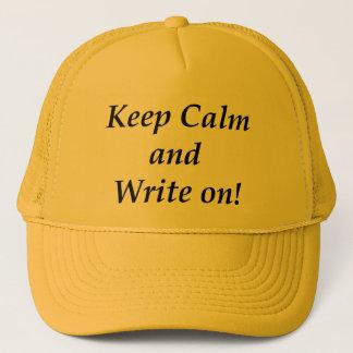 Behalten Sie Ruhe und schreiben Sie an Netzkappe