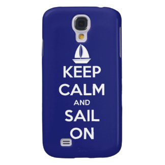 Behalten Sie Ruhe und Segel auf Blau Galaxy S4 Hülle