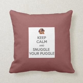 Behalten Sie Ruhe und Snuggle Ihr Puggle KISSEN