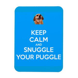 Behalten Sie Ruhe und Snuggle Ihren Puggle Magnet