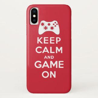 Behalten Sie Ruhe und Spiel an iPhone X Hülle
