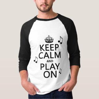 Behalten Sie Ruhe und Spiel an - Musiknoten - alle T-Shirt