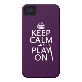 Behalten Sie Ruhe und Spiel auf (Clarinet) Case-Mate iPhone 4 Hülle
