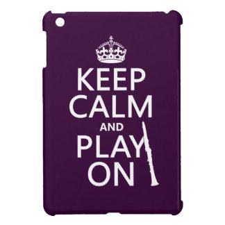 Behalten Sie Ruhe und Spiel auf (Clarinet) iPad Mini Hülle
