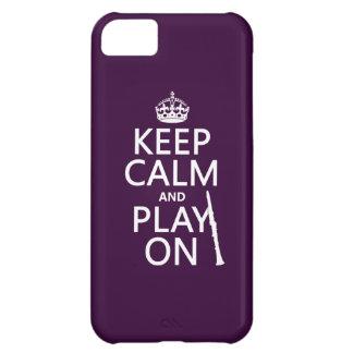 Behalten Sie Ruhe und Spiel auf (Clarinet) iPhone 5C Hülle
