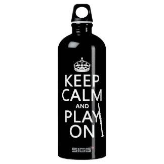Behalten Sie Ruhe und Spiel auf (Clarinet) Wasserflasche