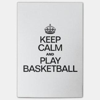 Behalten Sie Ruhe-und Spiel-Basketball Post-it Klebezettel