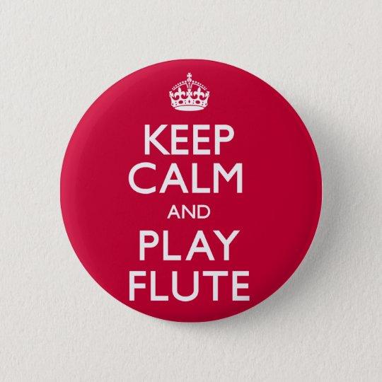 Behalten Sie Ruhe-und Spiel-Flöte (machen Sie) Runder Button 5,1 Cm