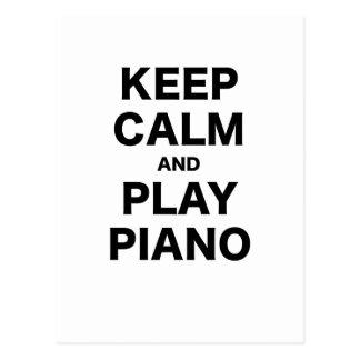 Behalten Sie Ruhe-und Spiel-Klavier Postkarten