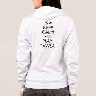 Behalten Sie Ruhe und Spiel Tawla Hoodie