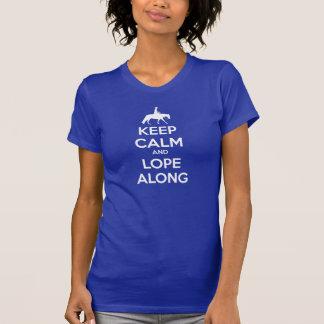 Behalten Sie Ruhe und springen Sie entlang Damen-T T-Shirt