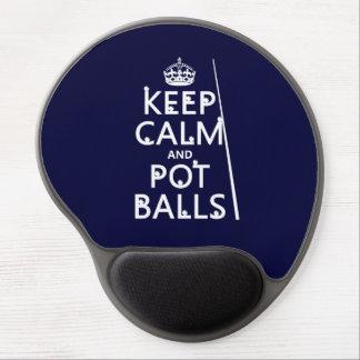 Behalten Sie Ruhe und Topf-Bälle (Snooker/Pool) Gel Mousepad