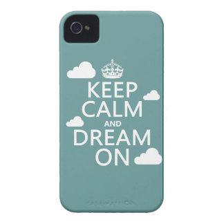 Behalten Sie Ruhe und Traum an (Wolken) - alle iPhone 4 Hüllen