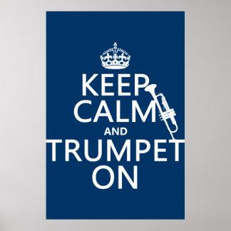 Behalten Sie Ruhe und Trompete auf (irgendeine Poster