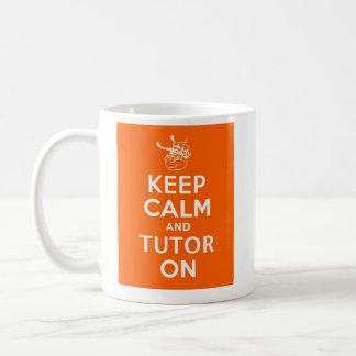 Behalten Sie Ruhe und Tutor an durch WyzAnt Kaffeetasse