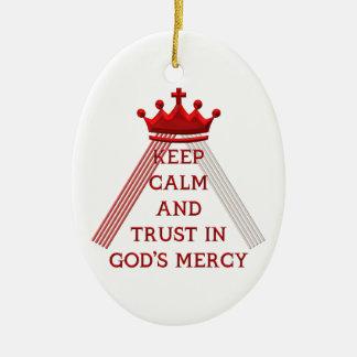 Behalten Sie Ruhe und Vertrauen in der Gnade des Keramik Ornament