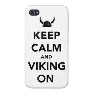 Behalten Sie Ruhe und Wikinger auf lustigen Geschi iPhone 4 Hüllen