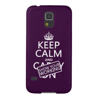 Behalten Sie Ruhe und zeigen Sie Ihr Arbeiten Samsung S5 Hüllen