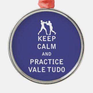 Behalten Sie Ruheund PraxisVale Tudo Rundes Silberfarbenes Ornament