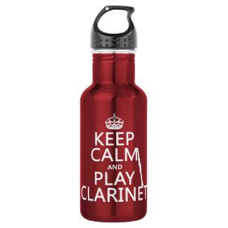 Behalten Sie Ruheund SpielClarinet (irgendeine Edelstahlflasche