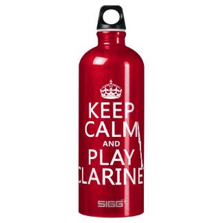 Behalten Sie Ruheund SpielClarinet (irgendeine Wasserflasche