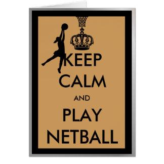 Behalten Sie Ruheund SpielNetball Grußkarte