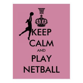 Behalten Sie Ruheund SpielNetball Postkarte