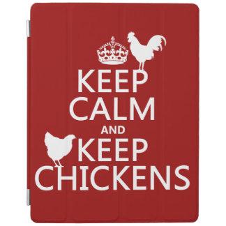 Behalten Sie ruhig und behalten Sie Hühner iPad Hülle