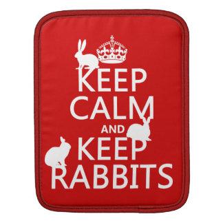 Behalten Sie ruhig und behalten Sie Kaninchen - Sleeve Für iPads