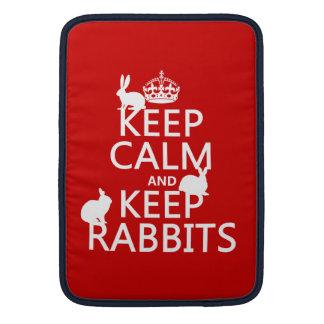 Behalten Sie ruhig und behalten Sie Kaninchen - Sleeve Fürs MacBook Air