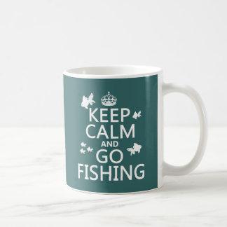 Behalten Sie ruhig und gehen Sie zu fischen Kaffeetasse
