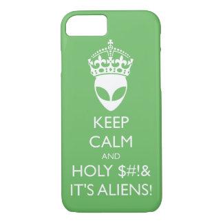 Behalten Sie ruhig und heiliges S%#t ist es iPhone 7 Hülle