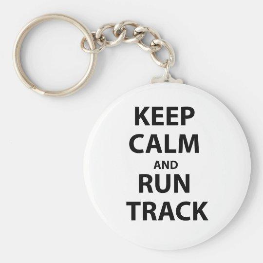 Behalten Sie ruhig und lassen Sie Bahn laufen Standard Runder Schlüsselanhänger