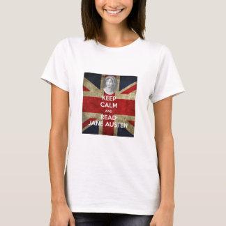 Behalten Sie ruhig und lesen Sie Jane Austen T-Shirt