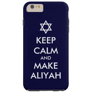 Behalten Sie ruhig und machen Sie Aliyah Tough iPhone 6 Plus Hülle