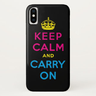 behalten Sie ruhig und machen Sie CMYK weiter iPhone X Hülle