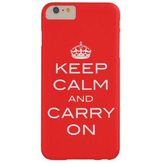 Behalten Sie ruhig und machen Sie iPhone 5 Fall - Barely There iPhone 6 Plus Hülle