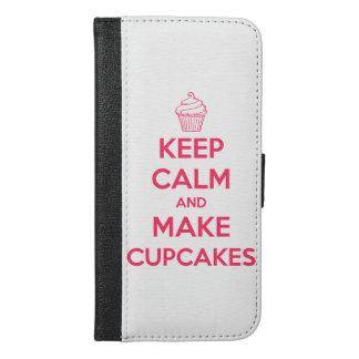 Behalten Sie ruhig und machen Sie kleine Kuchen iPhone 6/6s Plus Geldbeutel Hülle