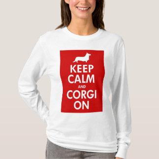Behalten Sie ruhig und machen Sie Wolljacken-Shirt T-Shirt