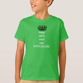 behalten Sie ruhig und sagen Sie das T-Shirt
