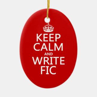 Behalten Sie ruhig und schreiben Sie Fic - alle Keramik Ornament