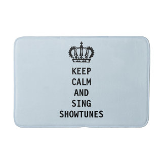 Behalten Sie ruhig und singen Sie Showtunes Badematte