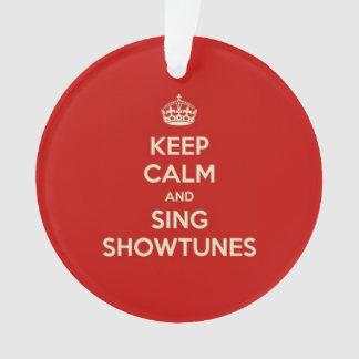 Behalten Sie ruhig und singen Sie Showtunes Ornament