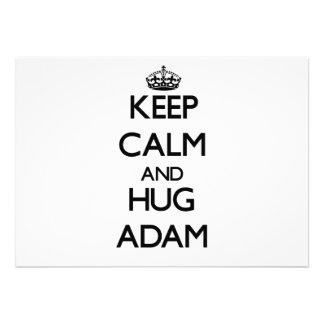 Behalten Sie ruhig und Umarmung Adam Individuelle Ankündigungen