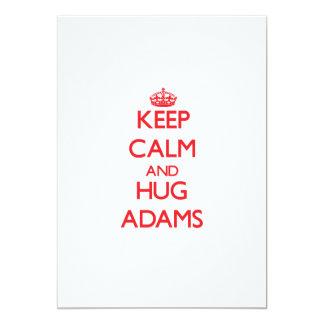Behalten Sie ruhig und Umarmung Adams Einladung