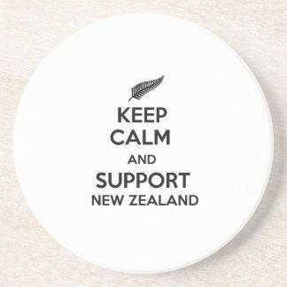 Behalten Sie ruhig und Unterstützung Neuseeland Sandstein Untersetzer