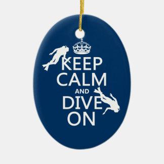 Behalten Sie ruhig und (Unterwasseratemgerät) Ovales Keramik Ornament